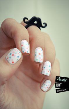 Polka dot nail polish /// This makes me wish I wore polka dots and had the patience for this!