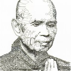 Thich Nhat Hanh by Michael Volpicelli #art #drawing
