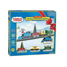 Thomas and Friends HO Scale Christmas Express Electric Train Set by Bachmann, Multicolor
