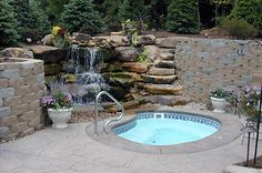 We love stones...and want a waterfall on our back hill!