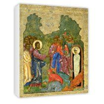 The Raising of Lazarus, Russian icon from.. - Canvas - Medium - 30x45cm - lovely icon art on canvas - Cost $65.00  -  please click image for more info...