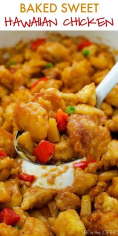 Baked Sweet Hawaiian Chicken - Life In The Lofthouse Chicken Life, Baked Chicken, Cheesy Chicken, Turkey Recipes, Chicken Recipes, Chicken Meals, Pork Recipes, Asian Recipes, Food And Drink