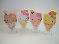Hello Kitty ice-cream erasers <3