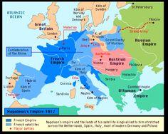 MAP. NAPOLEON BONAPARTE