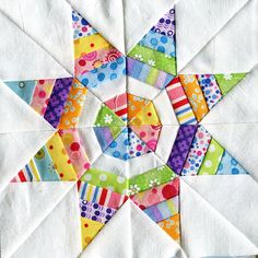 Love the use of scraps in this quilt block! April for Vintage Primitives | Flickr - Photo Sharing!
