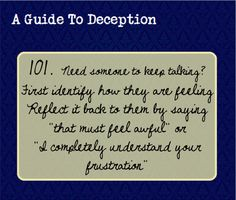 a guide to deception | New 100, new look. Good to be back.