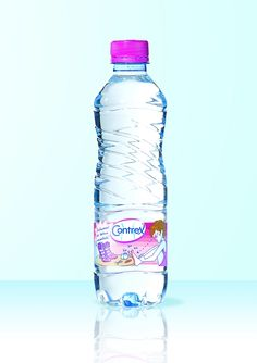 """Contrex is intended to women as the shape of the bottle looks like a lady body(90-60-90). Also Pink is the lady colour. To be innovative in the bottle sector, it is very difficult. The quality of water it is the only distinction. Contrex has succeeding in giving a character to its bottle. By giving this kind of impression, women will get more healthy and loose weight with removing toxins and intake of calcium and magnesium. So, drinking Contrex is a """"useful drink"""" Lady Colour, Water Packaging, You Loose, Loose Weight, Healthy Drinks, Drinking, Shape, Bottle, Pink"""