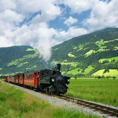 The Zillertal railway, Tyrol, Austria Old Steam Train, Italian Lakes, Austria Travel, Old Trains, By Train, Rural Area, Ways To Travel, Family Adventure, Train Travel