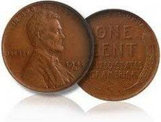 The 1943 copper penny is a very valuable coin. All coins in 1943 were made out of steel because of World War II. A few copper pennies were accidently produced and a rare coin was born. Valuable Pennies, Rare Pennies, Valuable Coins, Value Of Pennies, Penny Value Chart, Wheat Penny Value, Rare Coins Worth Money, Wheat Pennies, Two Dollars