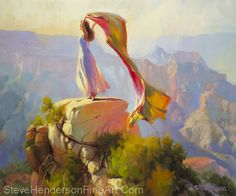Spirit Of The Canyon -- Original Oil Painting by Steve Henderson Oil ~ 30 x 36