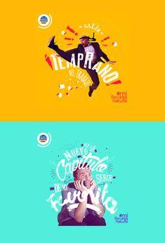 MiRecargaNatural (posts FB) on Behance Creative Advertising, Advertising Design, Creative Jobs, Creative Design, Typography Inspiration, Graphic Design Inspiration, Ad Design, Layout Design, Design Trends