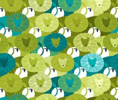 Another personal favorite from the Lions and Lambs Spoonflower Contest - love the naive images, the wonderful range of textural effects & the color scheme.  'Leopold & Lucy' - fabric by Spellstone at Spoonflower.
