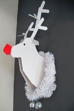 Decoración de Navidad para hacer tú mismo: reno de cartón