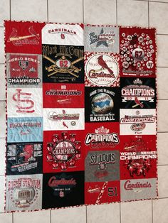 Stephen's St. Louis Cardinals t-shirt quilt