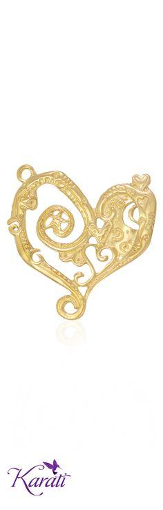 #dije #corazón #chapadeoro #accesoriosdemoda #joyería  #tendencia2015 www.karati.com