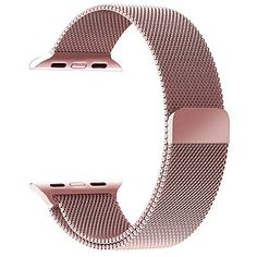 GEOTEL Apple Watch Band 42mm, Milanese Loop Stainless Steel Bracelet Strap Band for Apple Watch Series 1 Series 2 Sport&Edition with Unique Magnet Lock(No Buckle Needed) (42mm-Rose Gold) *** You can find out more details at the link of the image.
