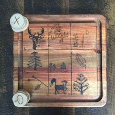 A personal favorite from my Etsy shop https://www.etsy.com/ca/listing/518748683/woodland-tic-tac-toe