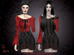 The Sims Resource: GothChic by Zuckerschnute20 • Sims 4 Downloads