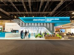Clearstream at Sibos An exhibition stand designed by Rapiergroup Exhibition Stall, Exhibition Stand Design, Exhibition Display, Exhibition Ideas, Light Architecture, Architecture Design, Street Marketing, Guerrilla Marketing, Standing Signage