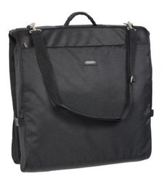 It's all inside. Easy to carry-on or check-in, this lightweight shoulder strap garment bag with interior wallylock hanger clamp keeps your clothes neat and wrinkle-free. The wally clamp holds up to six or more garments and multiple organization pockets accommodate shoes, folded clothes, and even small accessories. Stylish twill fabric is durable and water repellent, providing all weather protection. Superior construction guarantees long-lasting performance. Three year limited warranty…