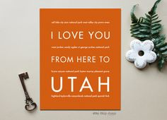 I Love You From Here To UTAH art print