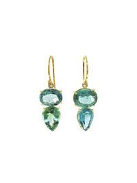 Irene Neuwirth- Tourmaline Drop Earrings - Yellow Gold