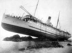 SS Princess May, naufragio en la Isla Sentinel, 1910. Biblioteca del Congreso