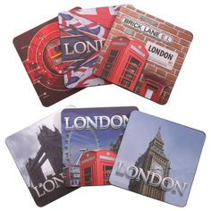 Set of 6 Ted Smith London Design Coasters #coaster #LondonIcons #London #accessories #souvenirs #giftware
