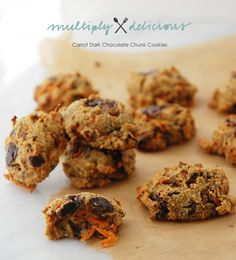 Carrot Dark Chocolate Chunk Cookies  @Multiply Delicious