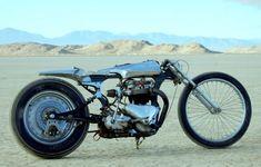 "Shinya Kimura - 'Zero style' custom bikes.  1957 triumph ""Needle""."