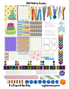 FREE Printable Birthday Sampler for the Erin Condren Life Planner by My Planner Envy
