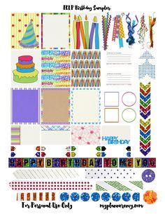 FREE Printable Birthday Sampler for the Erin Condren Life Planner by My Planner Envy