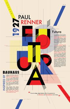 Welcome to the official Bauhaus Movement Magazine. The State Bauhaus was founded by Walter Gropius as a school of arts in Weimar in As the Bauhaus was a combination of. Typo Poster, Poster Fonts, Typographic Poster, Poster Quotes, Graphic Design Posters, Graphic Design Typography, Graphic Design Inspiration, Chinese Typography, Number Typography