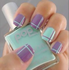 Simple, easy, and classy nail art using striping tape