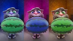 Talking Tom Cat Funny Colored Tom the cat Talking Tom Cat, Talking Back, Funny Songs, Virtual Pet, More Games, Tom S, Nursery Rhymes, Laugh Out Loud, More Fun