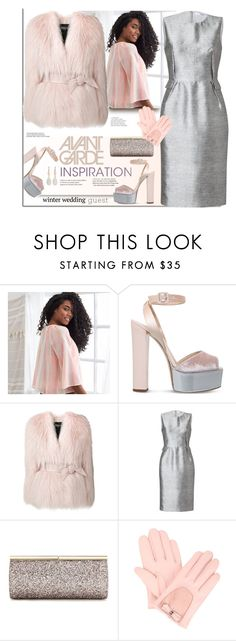 """""""Winter Wedding Guest"""" by fassionista ❤ liked on Polyvore featuring Aerie, Giuseppe Zanotti, Balmain, Prabal Gurung, Jimmy Choo, French Connection, Monica Vinader and winterwedding"""