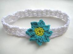 Baby Headband with Flowers  (Free  Crochet Pattern)