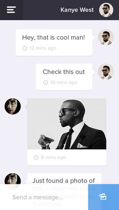 #Flat Mobile Chat