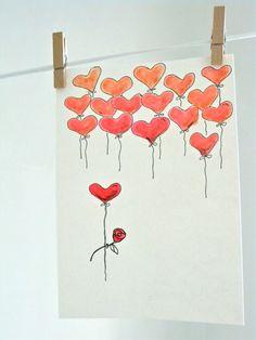 watercolor valentine