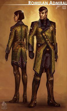 Star Trek Online Romulan Admiral Concept Art by FBOMBheart on deviantART