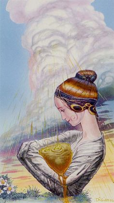 Ace of Cups - Tarot of Methamorphosis by Massimiliano Filadoro, Luigi di Giammarino
