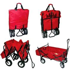 On the Edge Folding Wagon - I saw someone with their two small children in one, and thought GENIUS!!  So much easier to fit into the car than a traditional wagon!