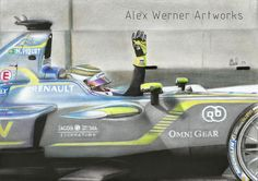 Alex Werner Artworks: Nelson Piquet Jr. - Second victory in the Formula E - Moscow 2015