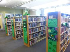 St. Patrick's Day 2015 display at the Temecula Public Library Teen Zone