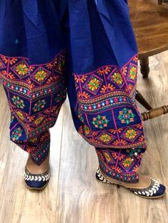 Embroiderd Pataiala Salwar stitched in standard size, ready to ship from California Patiala Salwar, Kurti, Phulkari Pants, Kutch Work Designs, Punjabi Suits Designer Boutique, Indian Wedding Outfits, Hand Embroidery Designs, Trouser Pants, Indian Dresses
