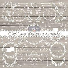 Vector wedding cliparts by burlapandlace on Creative Market