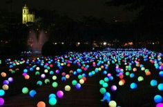 Put glow sticks in balloons and put them in the yard for a party!