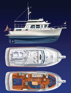 Trawler Yacht, Trawler Boats, Mercedes Stern, Small Yachts, Yacht Builders, Boat Insurance, Boat Projects, Boat Interior, Cool Boats