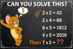 If 2x2=42, Then 7x2=? – Genius Math Puzzles with Answer - http://picsdownloadz.com/puzzles/if-2x242-then-7x2-genius-math-puzzles-with-answer/