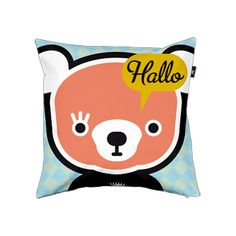 "Pillow cover ""Ollipoppies Hallo Bobbi"" by Ollipoppieshop from Amsterdam (NL) Cute Pillows, Sweet Dreams, Amsterdam, Pillow Covers, Snoopy, Nice, How To Make, Fictional Characters, Art"